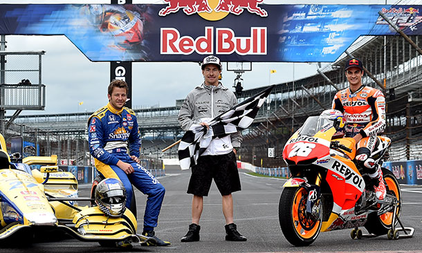 Marco Andretti, Nicky Hayden, and Dani Pedrosa