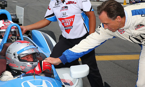 Mario Andretti and Pennsylvania Lt. Gov. Mike Stack