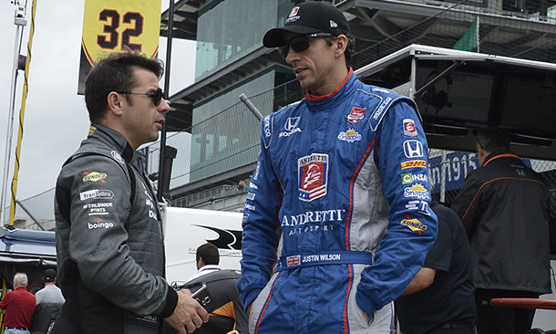Justin Wilson and Oriol Servia