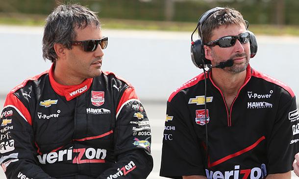 Juan Pablo Montoya and Vance Welker