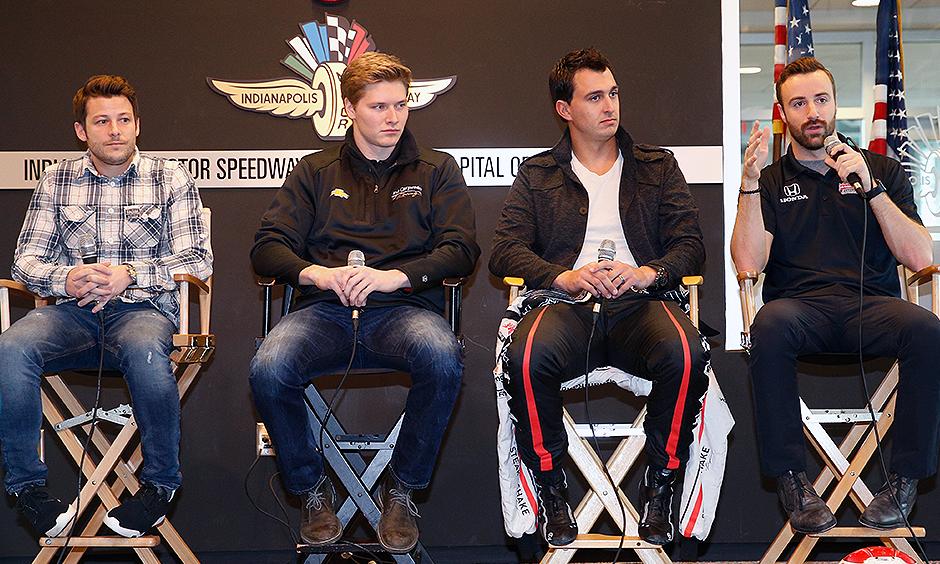 Marco Andretti, Josef Newgarden, Graham Rahal, and James Hinchcliffe