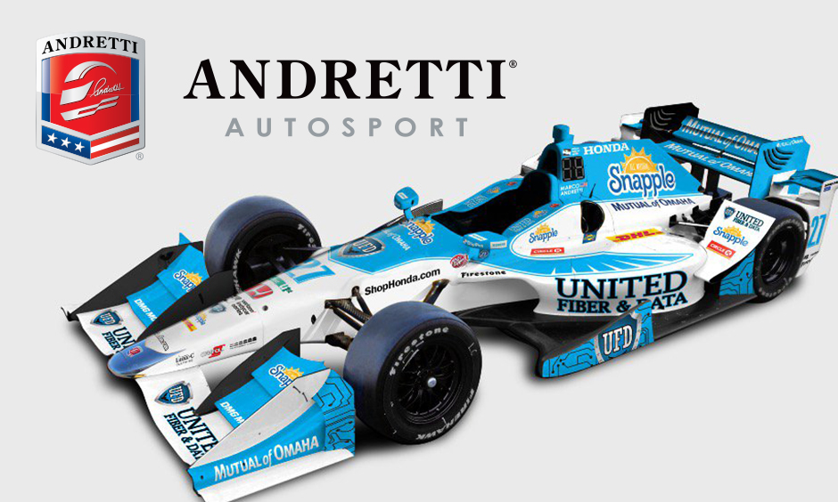 Andretti Autosport and United Fiber and Data