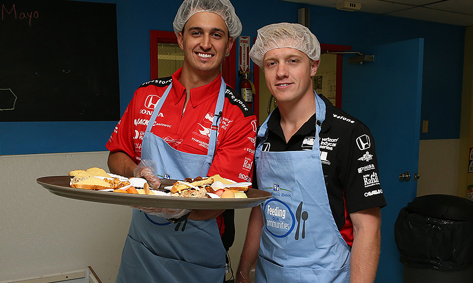 Graham Rahal and Spencer Pigot