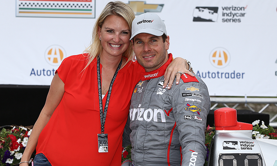 Will Power and his wife Liz