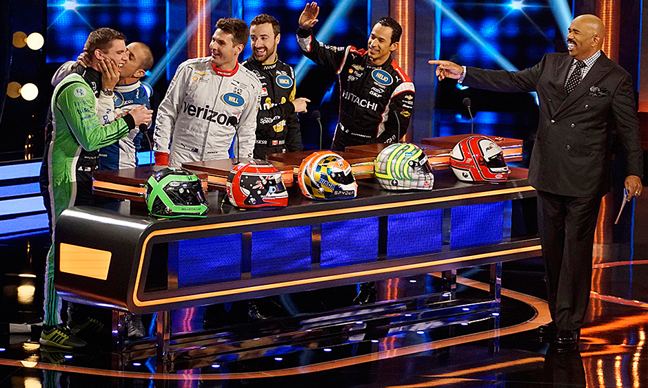 for celebrity family feud answers true and blue indycar drivers