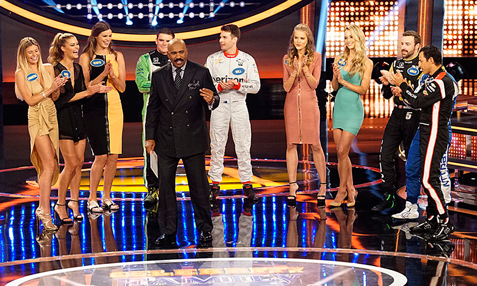 Drivers dominate in 'Celebrity Family Feud' showdown with models