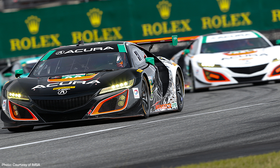 Acura NSX showing in Rolex 24 pleases Honda, Hunter-Reay, Rahal