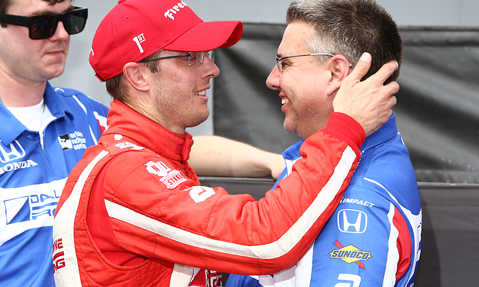 Sebastien Bourdais and Craig Hampson