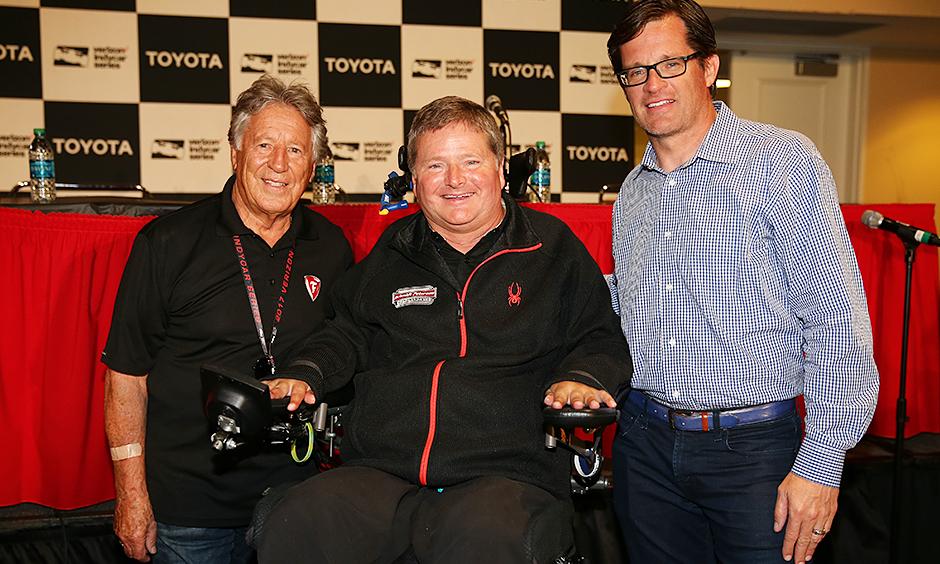 Sam Schmidt, Mario Andretti, and Doug Boles