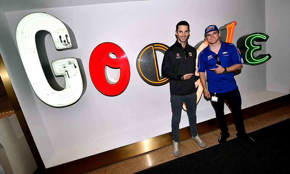 Alexander Rossi and Conor Daly