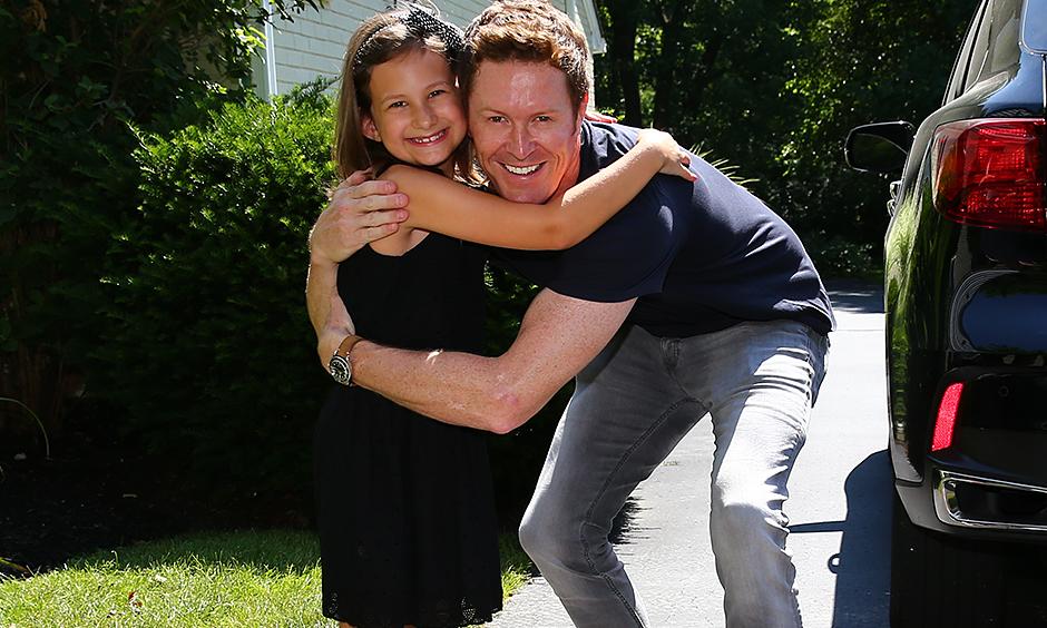 Scott Dixon and Lucy