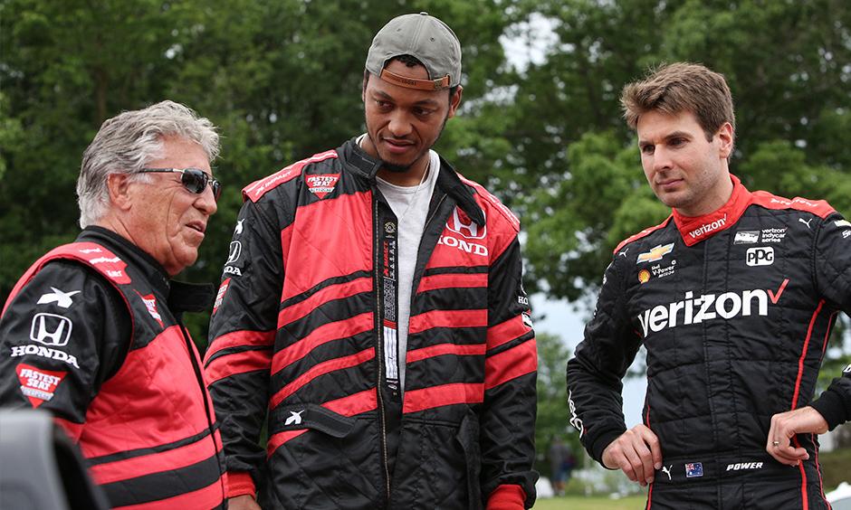 Mario Andretti, Will Power, and Brett Hundley