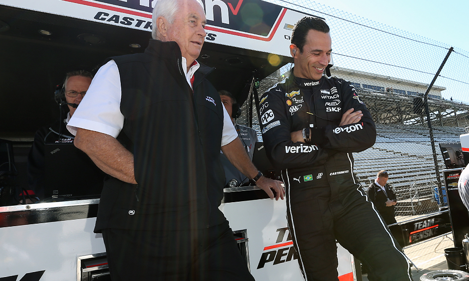 Roger Penske and Helio Castroneves