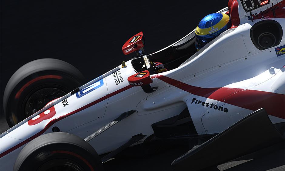 Sebastien Bourdais on track