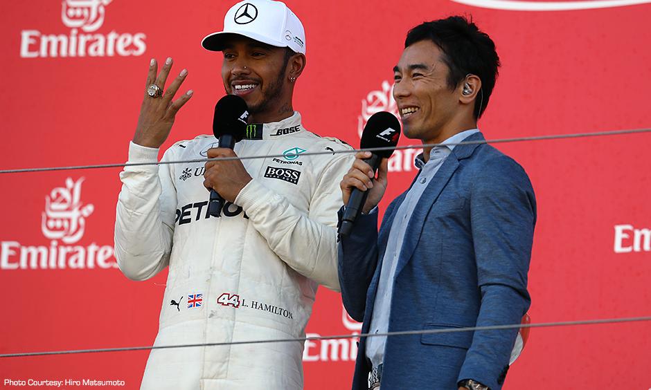 Lewis Hamilton and Takuma Sato