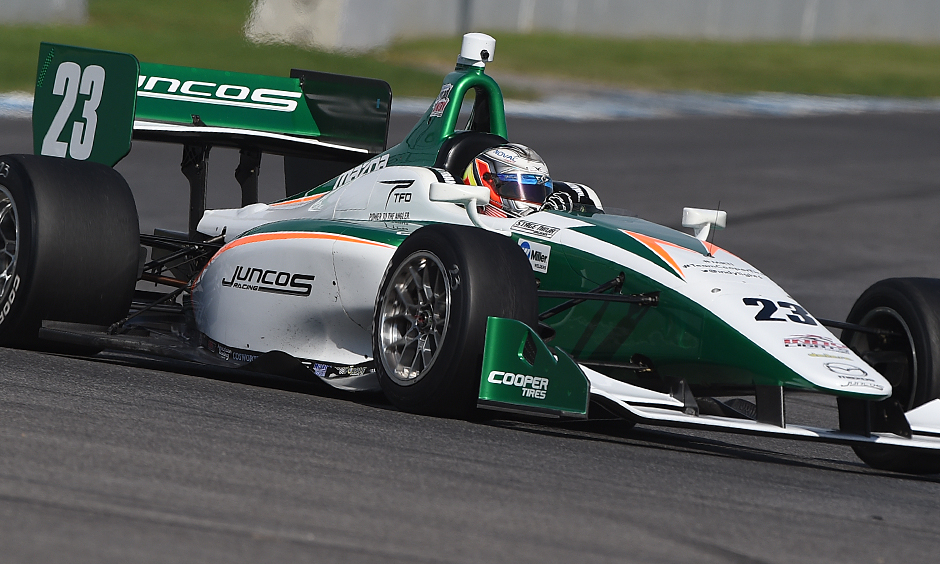 Indy Lights test rewarding for top three 2017 Pro Mazda finishers