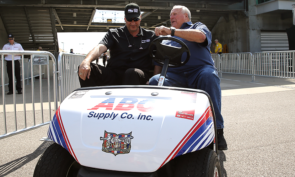 A.J. Foyt and Bill Pappas