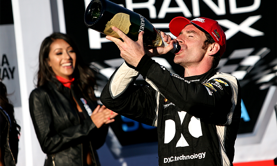Simon Pagenaud in DXC colors at Sonoma