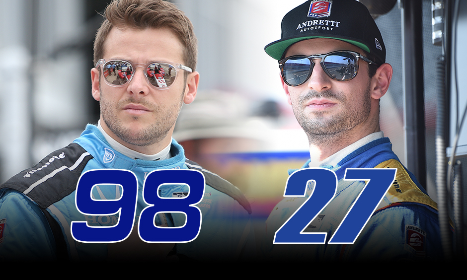 Marco Andretti and Alexander Rossi