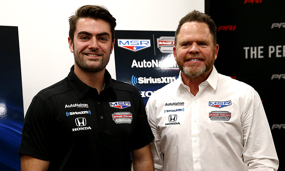 Jack Harvey and team owner Michael Shank