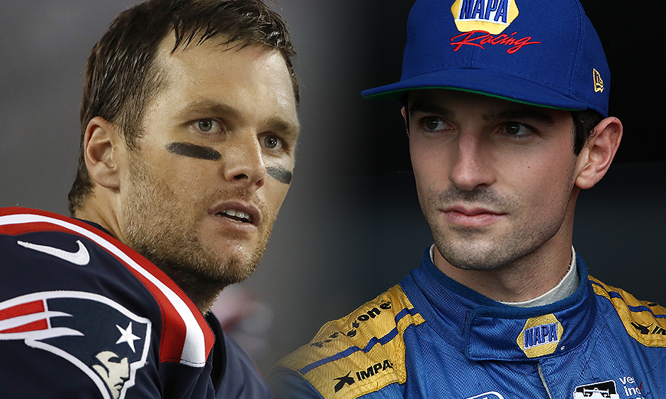 Alexander Rossi and Tom Brady