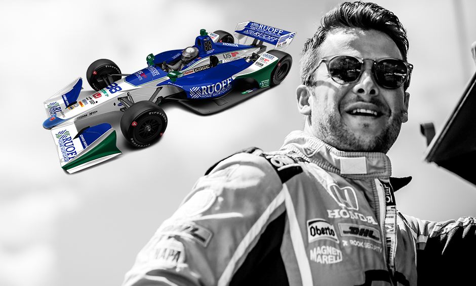 Marco Andretti with Ruoff Home Mortgage