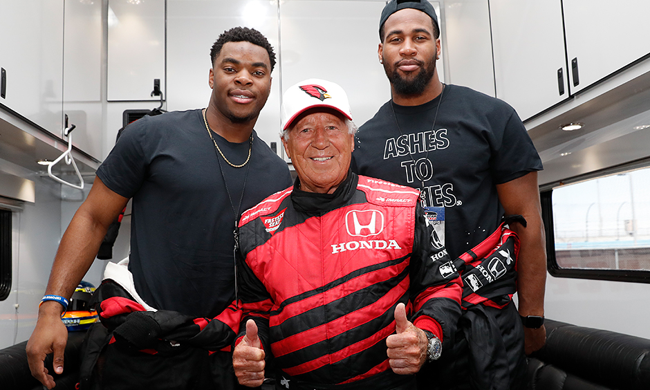 Mario Andretti, Rudy Ford, and Hasson Riddick