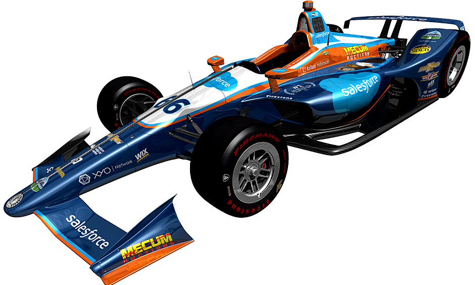 JR Hildebrand's car for the 102nd Indy 500