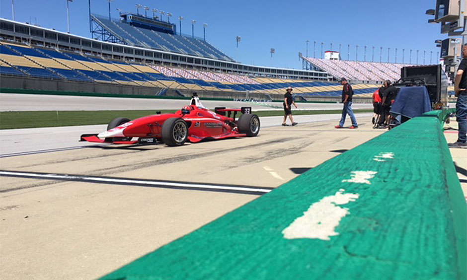 Chris Windom tests at Kentucky Speedway