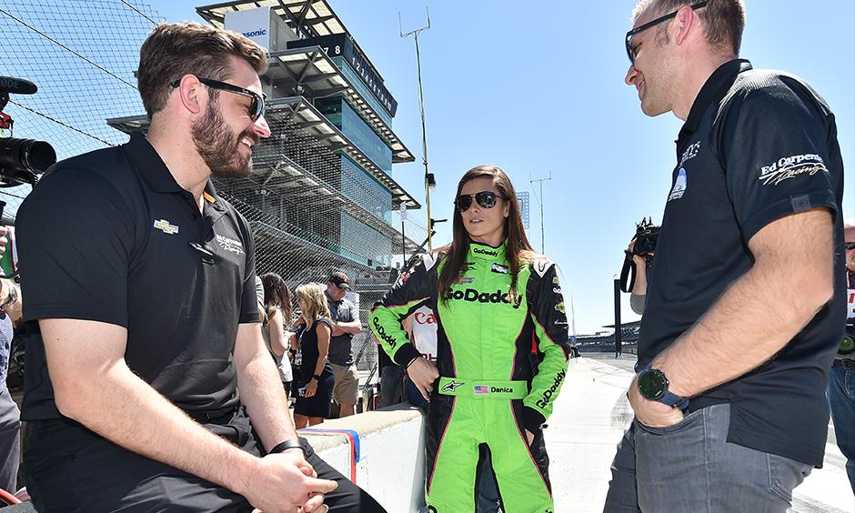Danica Patrick, Ed Carpenter, and Matt Barnes