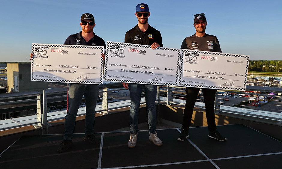 Conor Daly, Alexander Rossi, and Jack Harvey