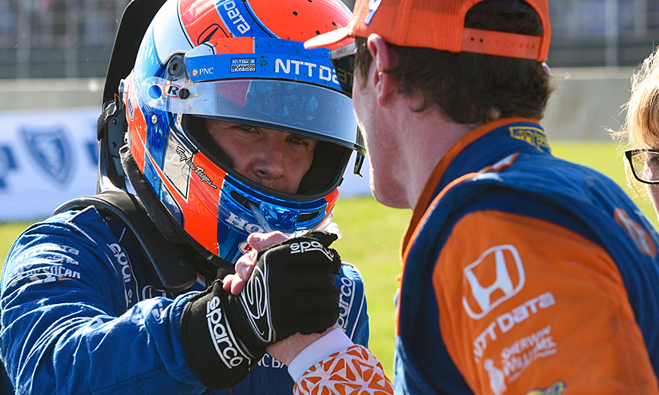 Ed Jones and Scott Dixon