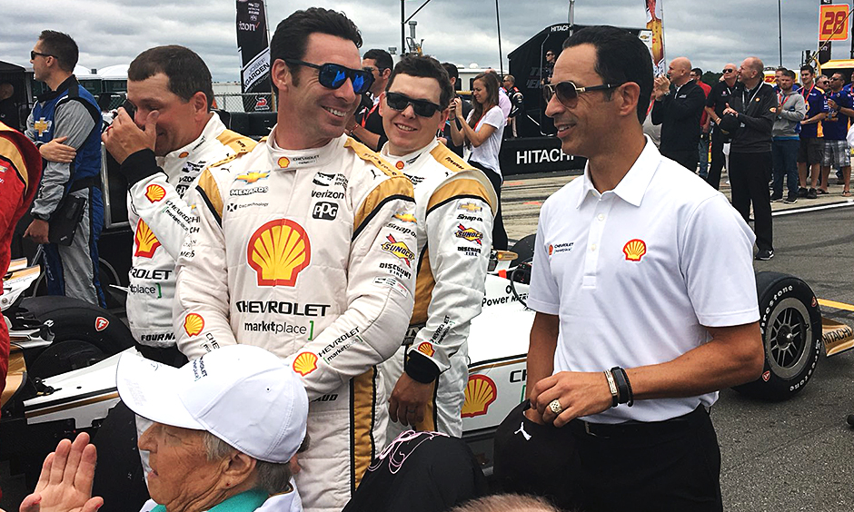 Simon Pagenaud and Helio Castroneves