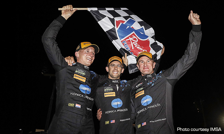 Wayne Taylor Racing drivers celebrate win