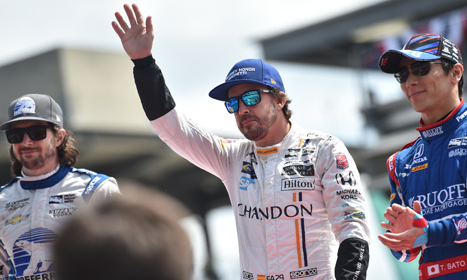 Fernando Alonso at the 2017 Indianapolis 500.