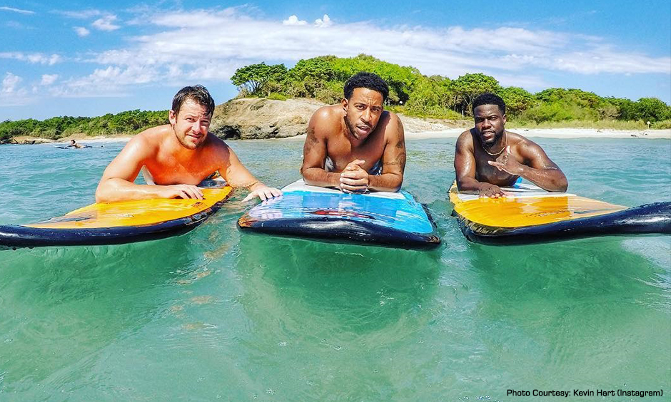 Marco Andretti, Ludacris, and Kevin Hart