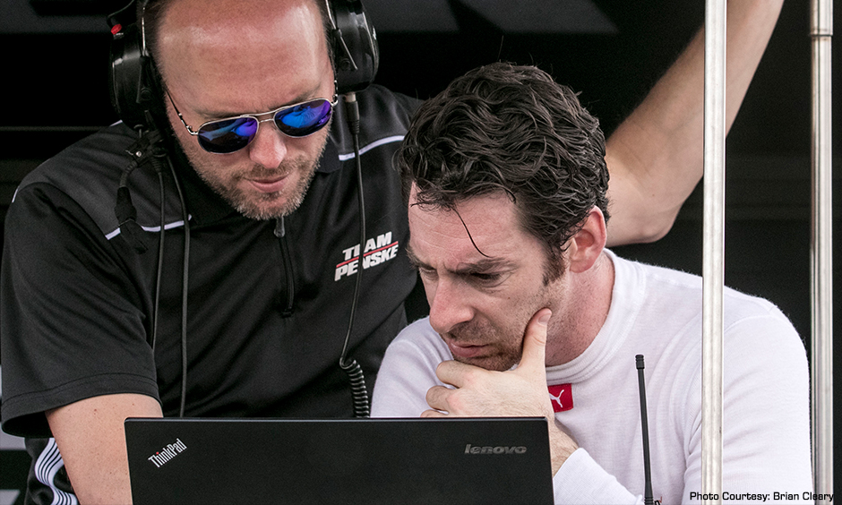 Simon Pagenaud and Ben Bretzman