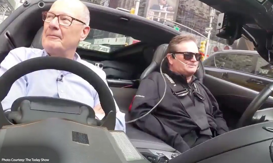 Sam Schmidt pilots the Arrow Electronics Corvette