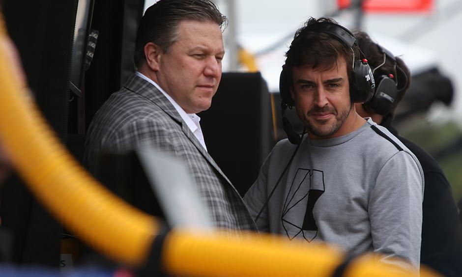 Zak Brown with Fernando Alonso