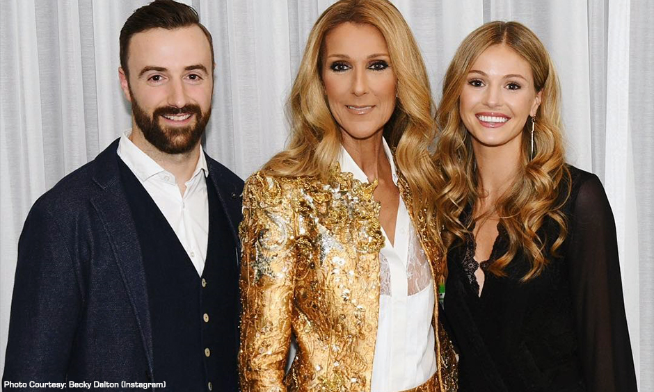 James Hinchcliffe, Celine Dion, and Becky Dalton
