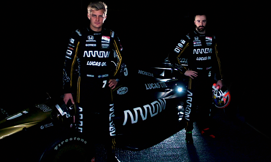 Marcus Ericsson and James Hinchcliffe