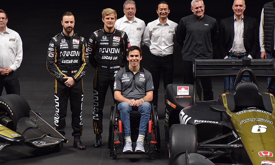 Robert Wickens with the Arrow SPM team