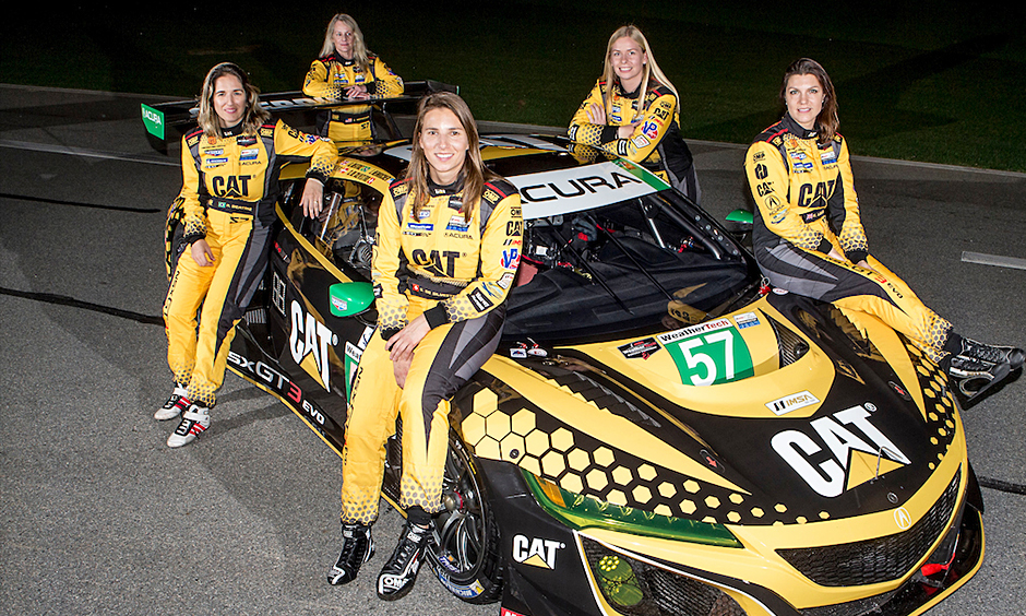 Trio of former Indy car women drivers pull together on sports car team