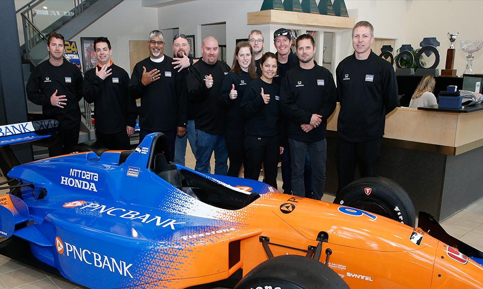 Scott Dixon crew championship rings