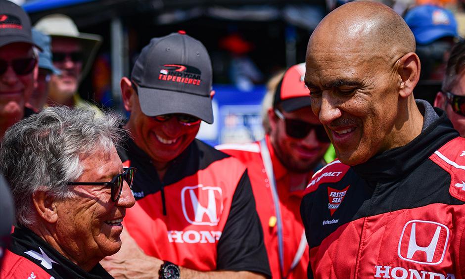 Mario Andretti and Tony Dungy
