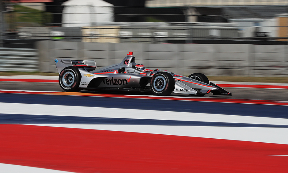 Will Power on track COTA