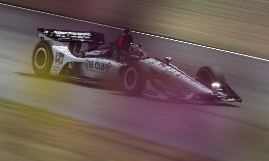 Graham Rahal on track Barber