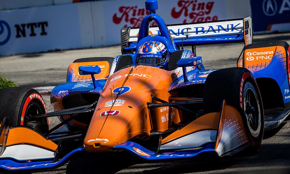 Scott Dixon on track Long Beach