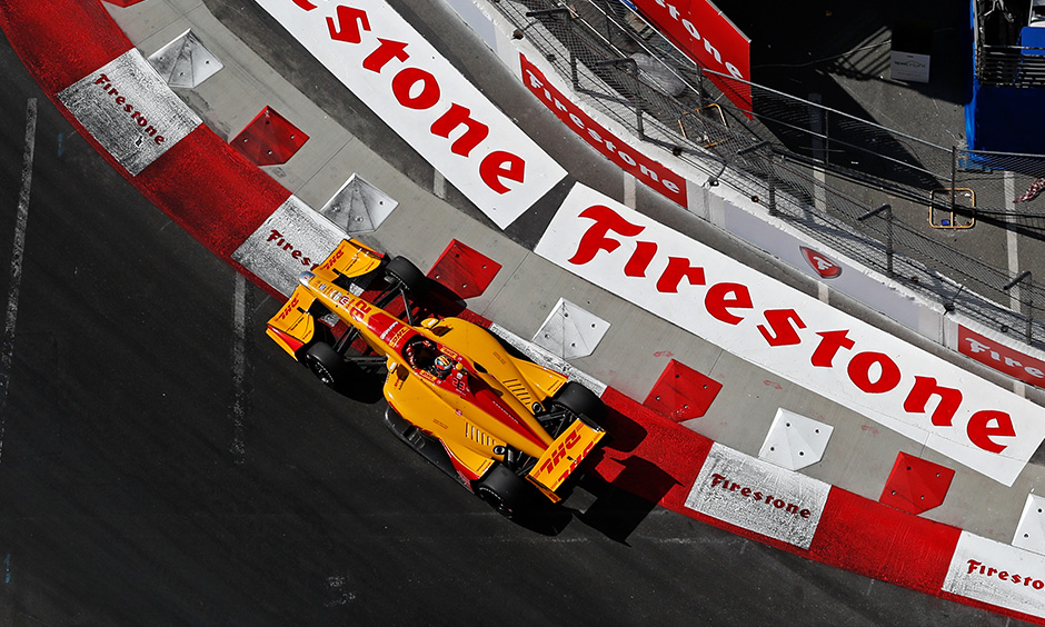 Ryan Hunter-Reay on track Long Beach