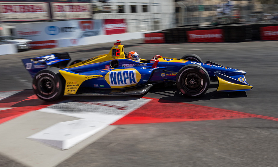 Alexander Rossi on track Long Beach